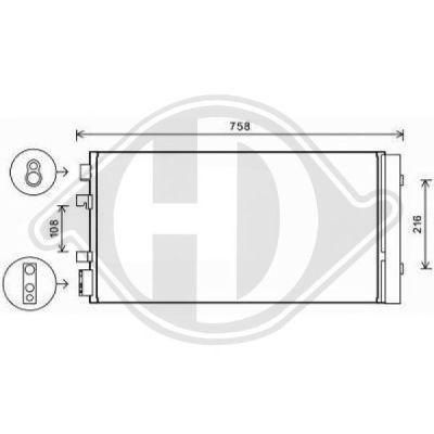 Condenseur, climatisation - Diederichs Germany - 8446510