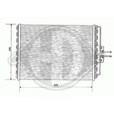 Condenseur, climatisation - Diederichs Germany - 8447200