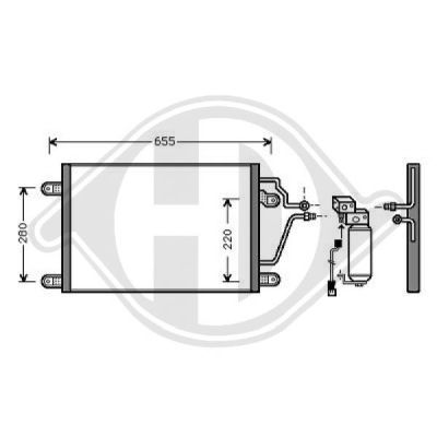 Condenseur, climatisation - Diederichs Germany - 8447201