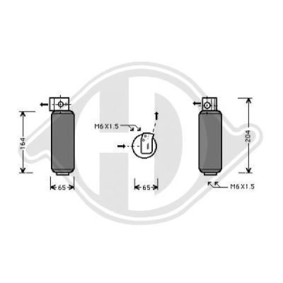 Filtre déshydratant, climatisation - Diederichs Germany - 8447206