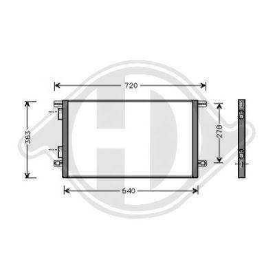 Condenseur, climatisation - Diederichs Germany - 8447210