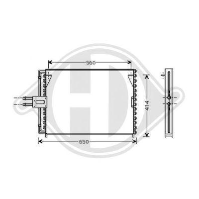 Condenseur, climatisation - Diederichs Germany - 8447211