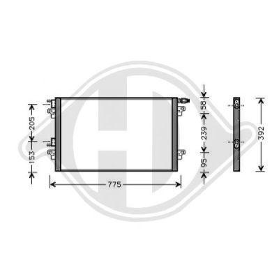 Condenseur, climatisation - Diederichs Germany - 8447301