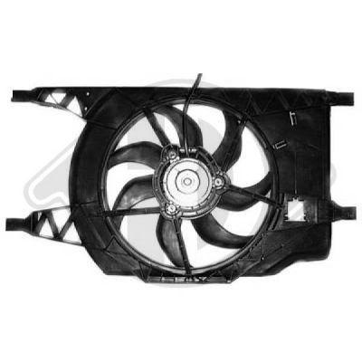Ventilateur, refroidissement du moteur - Diederichs Germany - 8447306