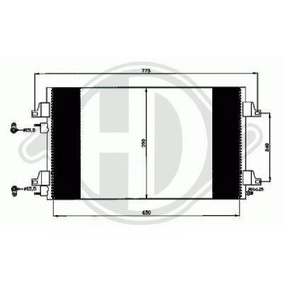 Condenseur, climatisation - HDK-Germany - 77HDK8447310