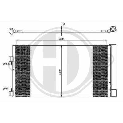Condenseur, climatisation - Diederichs Germany - 8447400