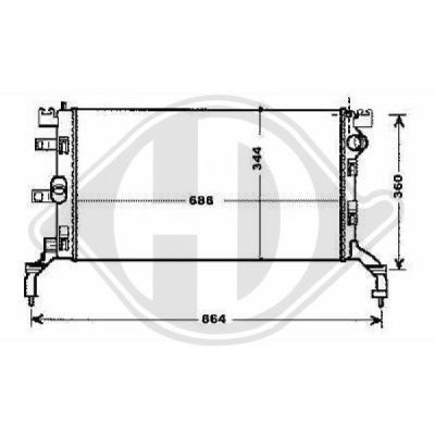 Radiateur, refroidissement du moteur - HDK-Germany - 77HDK8447405