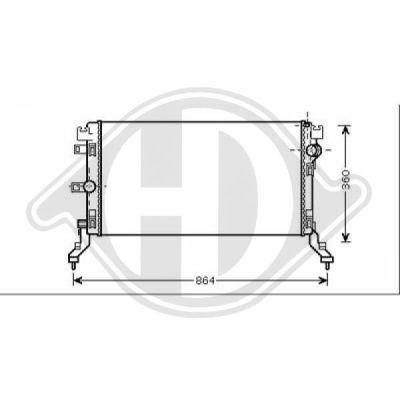 Radiateur, refroidissement du moteur - Diederichs Germany - 8447407