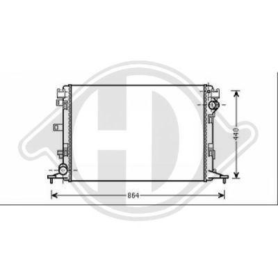 Radiateur, refroidissement du moteur - Diederichs Germany - 8447408