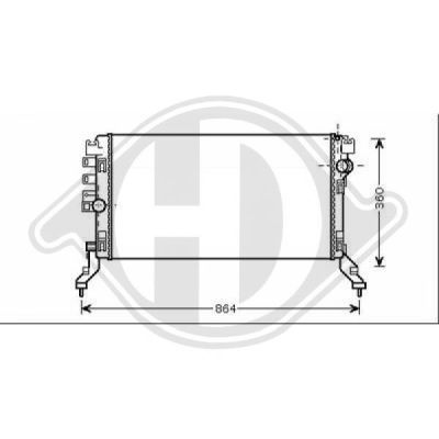 Radiateur, refroidissement du moteur - HDK-Germany - 77HDK8447409