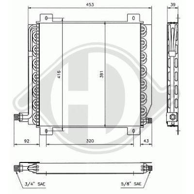 Condenseur, climatisation - Diederichs Germany - 8448000