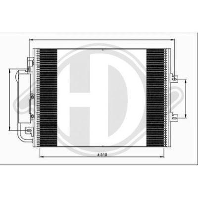 Condenseur, climatisation - Diederichs Germany - 8448100