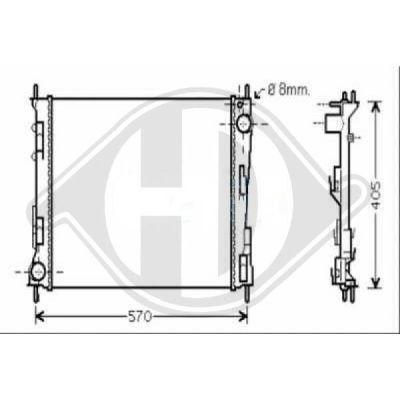 Radiateur, refroidissement du moteur - HDK-Germany - 77HDK8448103