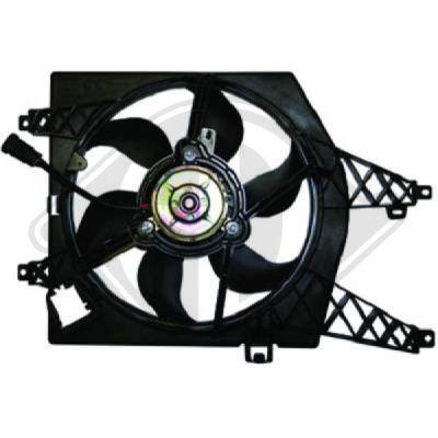 Ventilateur, refroidissement du moteur - Diederichs Germany - 8448107