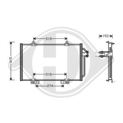 Condenseur, climatisation - HDK-Germany - 77HDK8448900