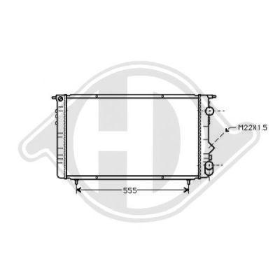Radiateur, refroidissement du moteur - Diederichs Germany - 8448905