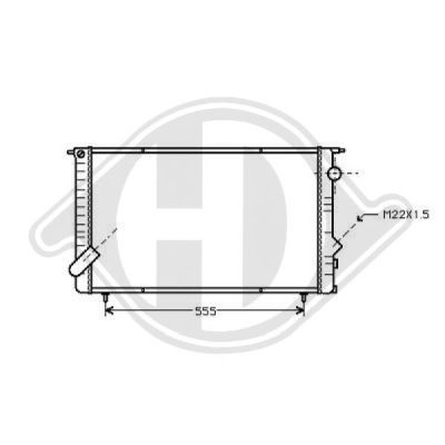Radiateur, refroidissement du moteur - Diederichs Germany - 8448906