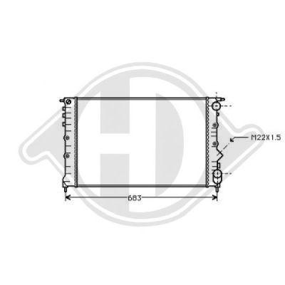 Radiateur, refroidissement du moteur - Diederichs Germany - 8448907