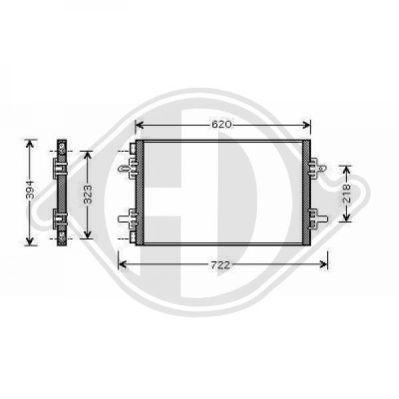 Condenseur, climatisation - Diederichs Germany - 8449001