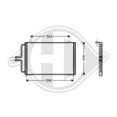 Condenseur, climatisation - HDK-Germany - 77HDK8449100