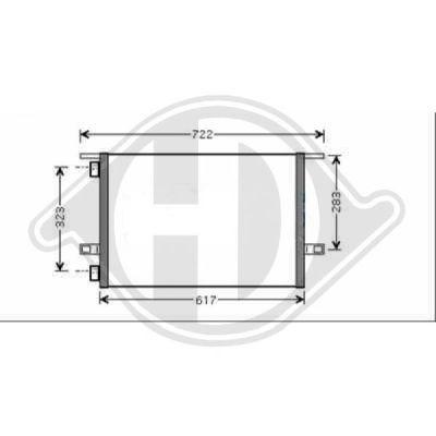 Condenseur, climatisation - Diederichs Germany - 8449102