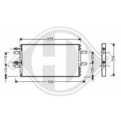 Condenseur, climatisation - Diederichs Germany - 8449103