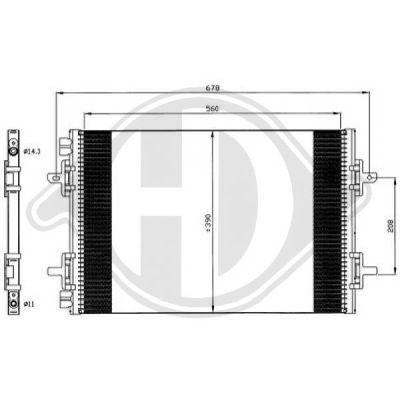 Condenseur, climatisation - Diederichs Germany - 8449104