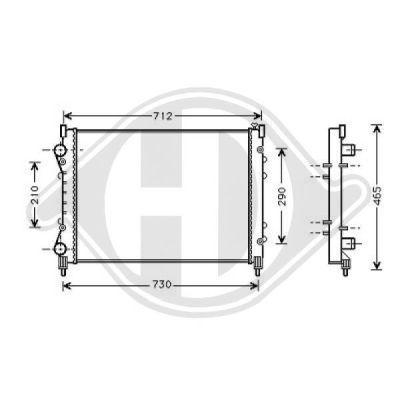 Radiateur, refroidissement du moteur - Diederichs Germany - 8449110