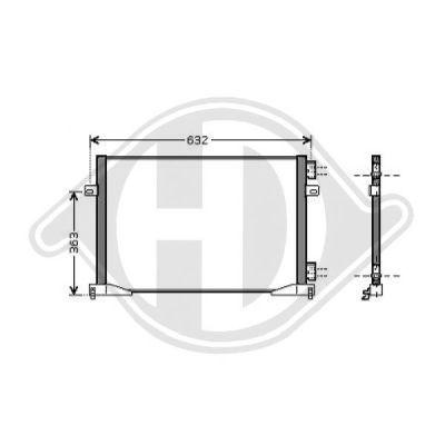 Condenseur, climatisation - Diederichs Germany - 8449500