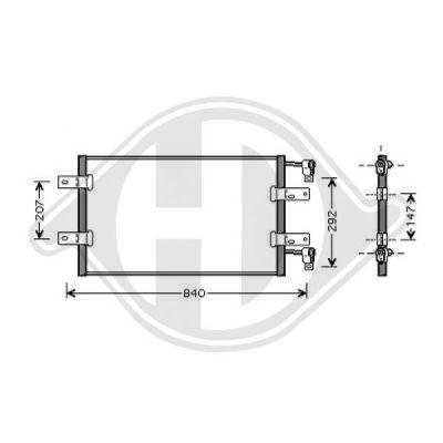 Condenseur, climatisation - Diederichs Germany - 8449501
