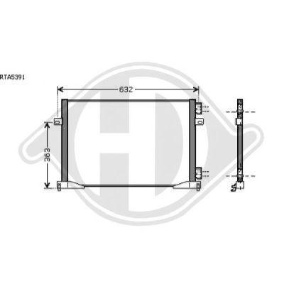 Condenseur, climatisation - Diederichs Germany - 8449503