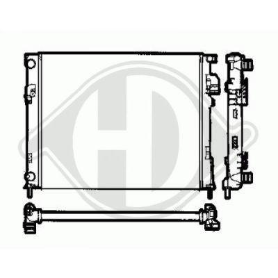 Radiateur, refroidissement du moteur - HDK-Germany - 77HDK8449505