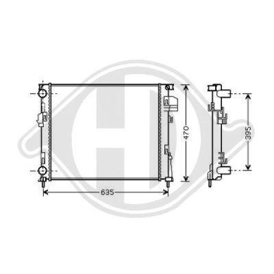 Radiateur, refroidissement du moteur - Diederichs Germany - 8449506