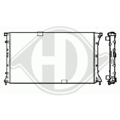 Radiateur, refroidissement du moteur - HDK-Germany - 77HDK8449508