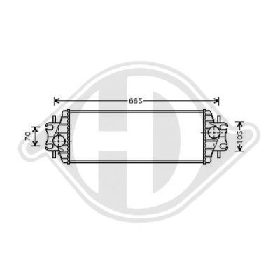 Intercooler, échangeur - Diederichs Germany - 8449509