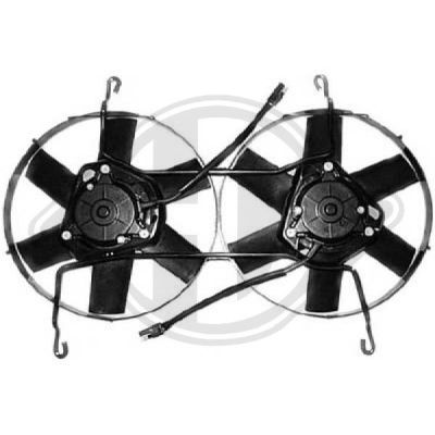 Ventilateur, refroidissement du moteur - Diederichs Germany - 8449511