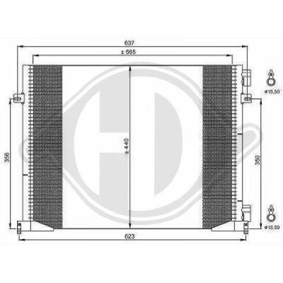 Condenseur, climatisation - Diederichs Germany - 8449600