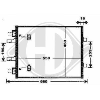 Condenseur, climatisation - Diederichs Germany - 8449602