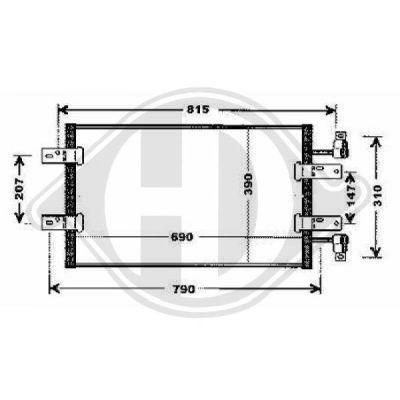 Condenseur, climatisation - Diederichs Germany - 8449603