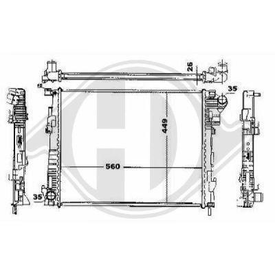 Radiateur, refroidissement du moteur - Diederichs Germany - 8449605