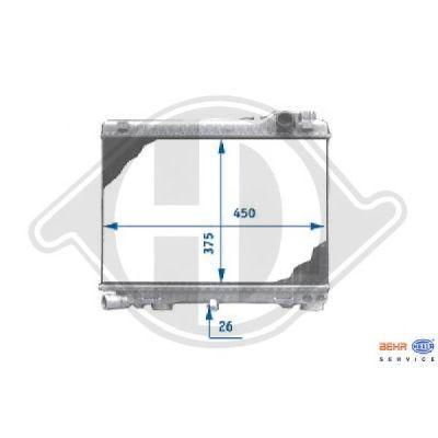 Radiateur, refroidissement du moteur - Diederichs Germany - 8500079