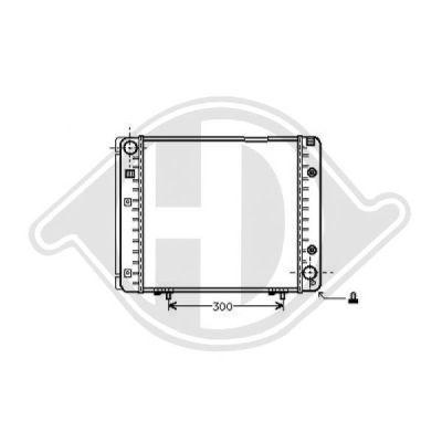 Radiateur, refroidissement du moteur - Diederichs Germany - 8500130