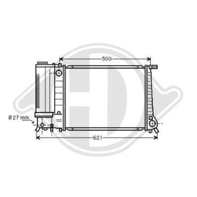 Radiateur, refroidissement du moteur - Diederichs Germany - 8500145
