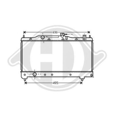 Radiateur, refroidissement du moteur - HDK-Germany - 77HDK8500186