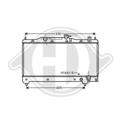Radiateur, refroidissement du moteur - Diederichs Germany - 8500188