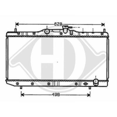 Radiateur, refroidissement du moteur - Diederichs Germany - 8500190
