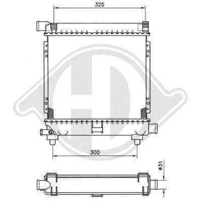 Radiateur, refroidissement du moteur - HDK-Germany - 77HDK8500335