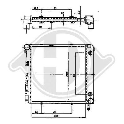 Radiateur, refroidissement du moteur - Diederichs Germany - 8500525