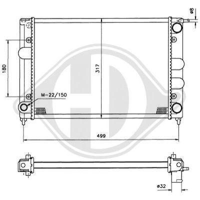 Radiateur, refroidissement du moteur - HDK-Germany - 77HDK8500640