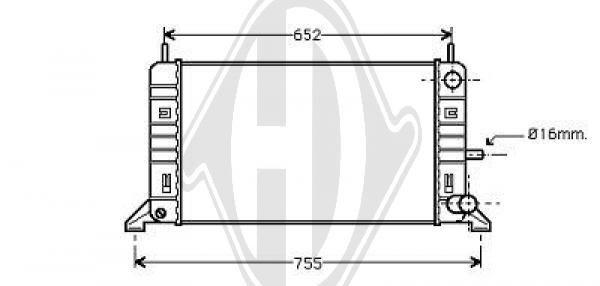 Radiateur, refroidissement du moteur - Diederichs Germany - 8500681